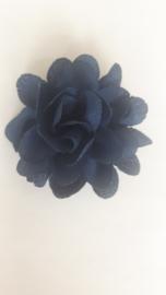 haar bloem 4cm navy