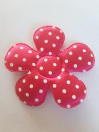 Bloem 3.5 cm roze polkadot