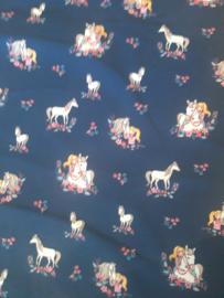 Trico met navy paarden print quite