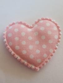 Hartjes licht roze polkadot