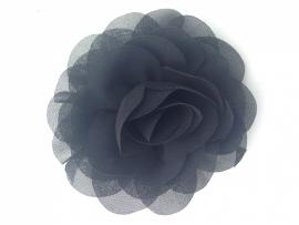 zwart bloem 9cm met alligator en anti slip