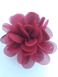 haar bloem 7 cm. bordeau rood