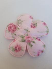 Bloem 47 mm roze gebloemd