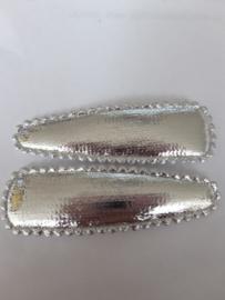 55 cm haarspeld hoesje zilver