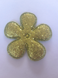 Bloem 3.5 cm groen glitter