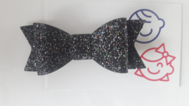 strik zwart glitter 7 cm