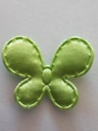 Vlinder 25 x 20 mm satijnen groen