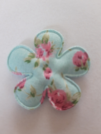 Bloem 3.5 cm blauw bloemen