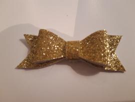 Strik zonder clip glitter goud