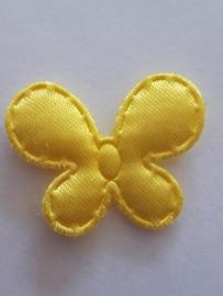 Vlinder 25 x 20 mm satijnen geel