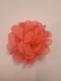 Haar  bloem roze 4cm n3