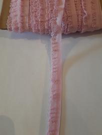 Sier elastiek roze