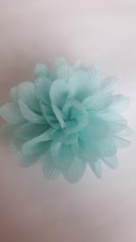 Haar bloem 7cm glitter mint
