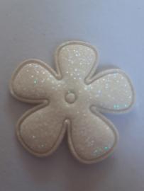 Glitter bloem 3.5 cm
