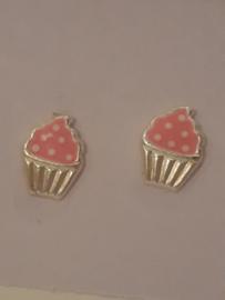 Zilveren oorbellen muffin