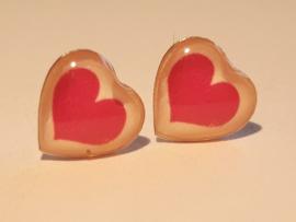 Zilveren oorbellen hartje