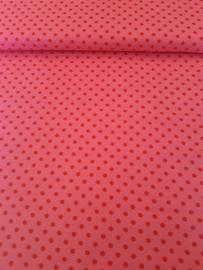 Roze met rode stippen