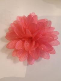 Chiffon bloem 65 mm fuchia