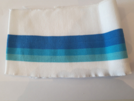 Manchetten blauw wit