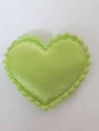 Hartjes satijn groen 20 mm
