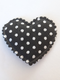 Hartjes zwart polkadot