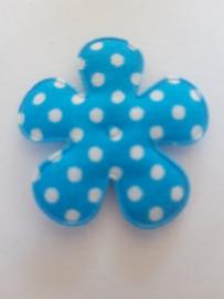 Bloem 3.5 cm blauw polkadot