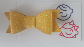 strik geel glitter 7 cm