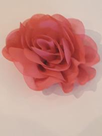 Chiffon bloem roze
