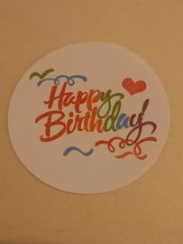 Happy birthday sluitsticker