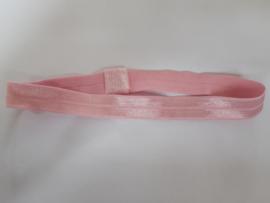 Elastieken haarbandje roze
