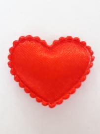 Hartjes satijn rood 20 mm