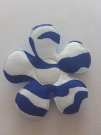 Bloem 47 mm blauw wit
