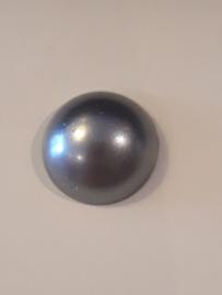 Flatbacks 10 mm donker zilver