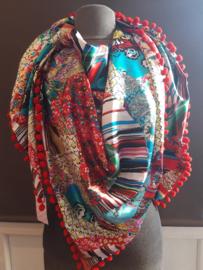 Sjaal maat XL rood