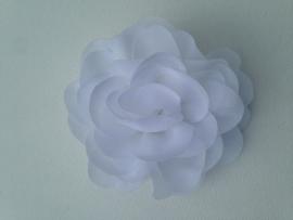 Haar roos 9cm wit