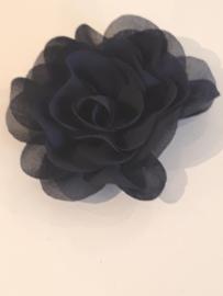 Chiffon bloem blauw