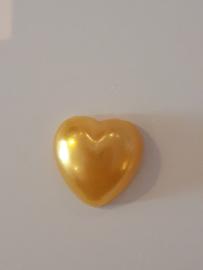 Hartjes flatback goud geel