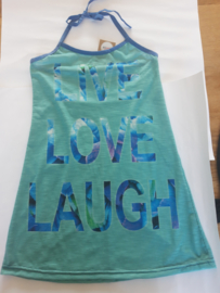 halterjurkje live love laugh maat 140/146 trico