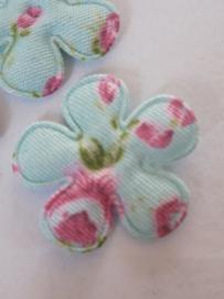 Bloem 2.5 cm blauw met bloemen
