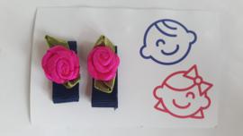 klittenband knipje roze roos