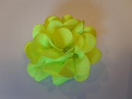 Haar bloem neon groen 4cm