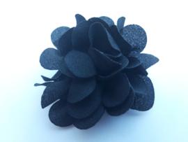haar bloem 4 cm zwart