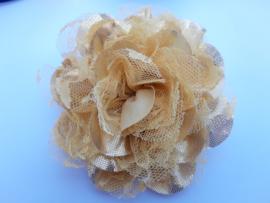 Haarbloem 11 cm goud