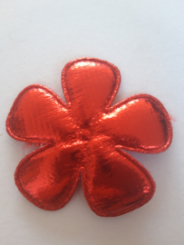 Bloem 47 mm metallic rood