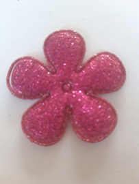Bloem 3.5 cm fuchia glitter