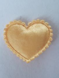 Hartjes satijn goud 20 mm