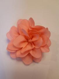 Haar bloem midden roze 4cm
