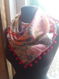 Sjaal maat M fluffy roze