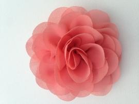 Haar roos 9 cm zalm