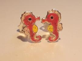 Zilveren oorbellen zeepaardje